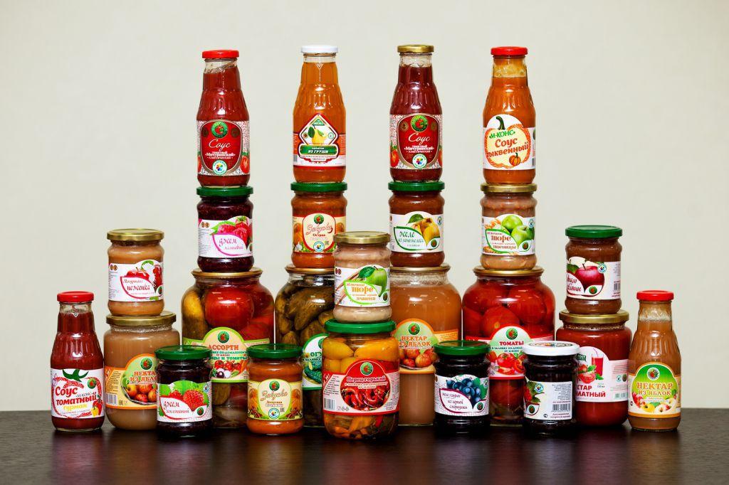 Овощные и фруктовые консервы М-КОНС-1 в ассортименте