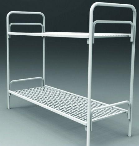 Металлические кровати со спинками из ДСП и кровати с ламелями