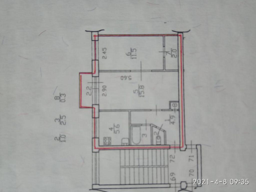 2ккв п.Понтонный Колпино, ул.Южная, д.1  3/5  43.6 + балкон