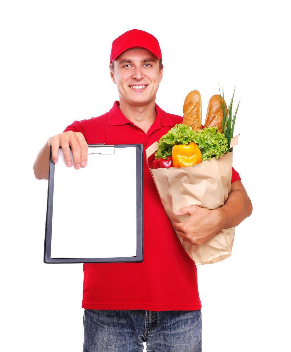Курьер с проживанием в службу доставки еды