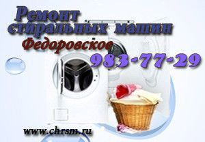 Ремонт стиральных машин в Федоровское